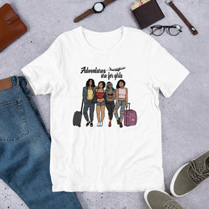 Adventure On A Plane T-Shirt - Zabba Designs African Clothing Store