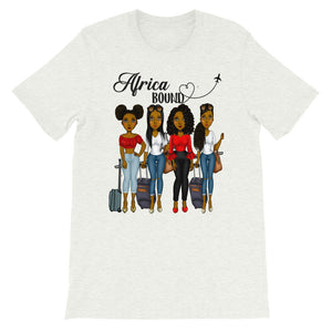 Africa  Bound Girls Trip Short-Sleeve T-Shirt - Zabba Designs African Clothing Store