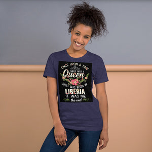 Liberia Born Short-Sleeve Unisex T-Shirt - Zabba Designs African Clothing Store