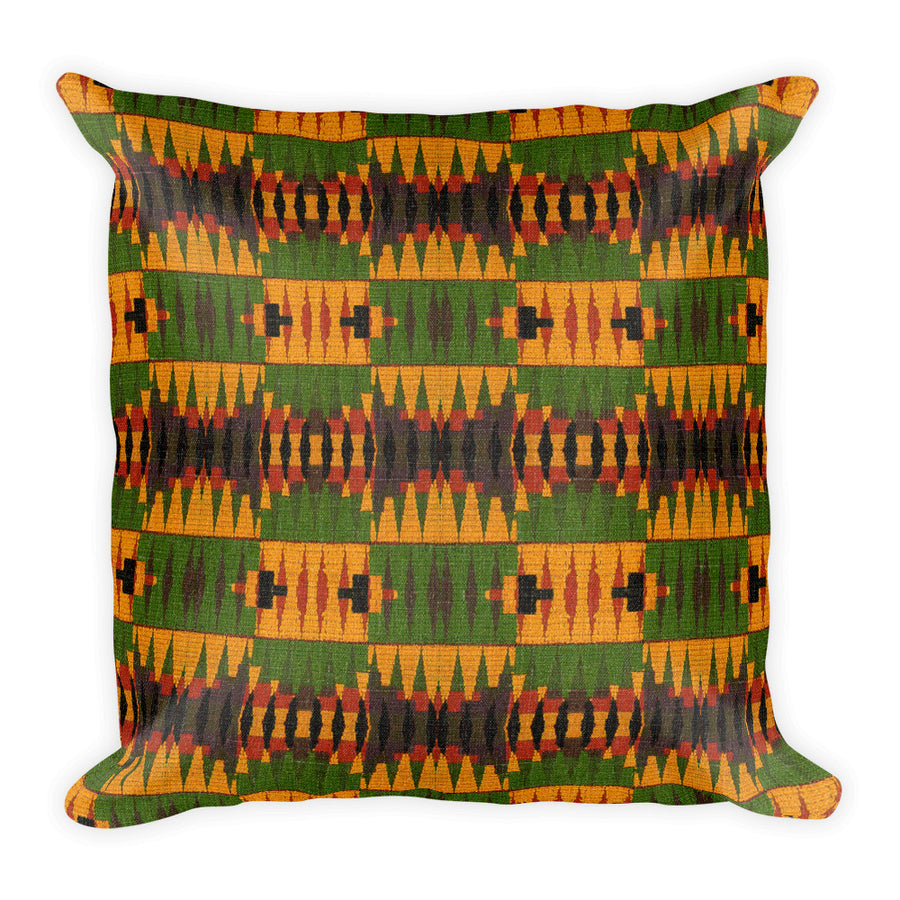 Yellow Kente Print Basic Pillow