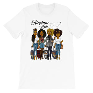Airplane Mode Girls Trip T-Shirt - Zabba Designs African Clothing Store