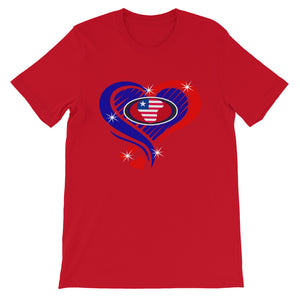 Liberia Is My Heart  T-Shirt - Zabba Designs African Clothing Store