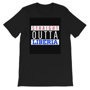Red Straight Outta Liberia Short-Sleeve Unisex T-Shirt - Zabba Designs African Clothing Store