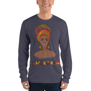 Lamii African Inspired Long sleeve t-shirt (unisex) - Zabba Designs African Clothing Store