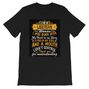 Liberian Born Ladies Short-Sleeve  T-Shirt - Zabba Designs African Clothing Store
