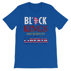Born In Liberia Black King Short-Sleeve  T-Shirt - Zabba Designs African Clothing Store