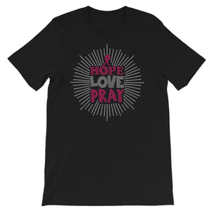 Hope Love And Pray Short-Sleeve Unisex T-Shirt - Zabba Designs African Clothing Store