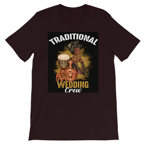 Traditional Wedding Crew Short-Sleeve T-Shirt - Zabba Designs African Clothing Store