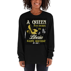 Black Liberian Queen Long sleeve t-shirt - Zabba Designs African Clothing Store