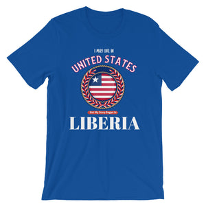 My Story Started In Liberia Short-Sleeve Unisex T-Shirt - Zabba Designs African Clothing Store