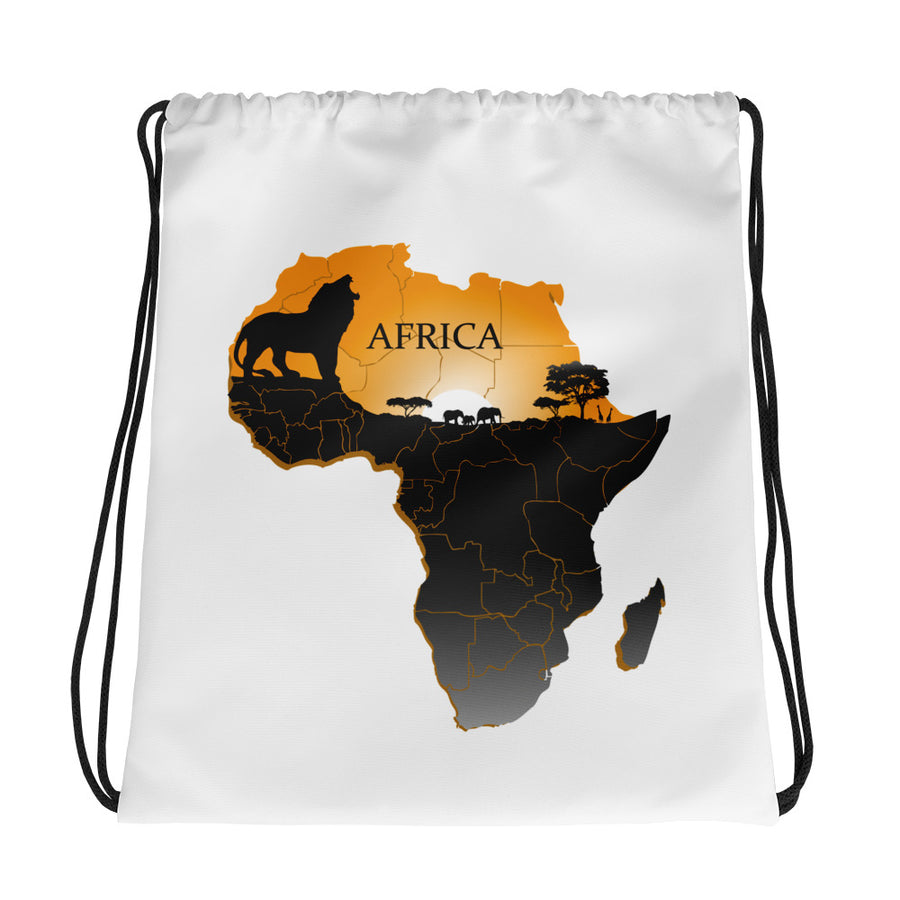 Ethnic African Drawstring Cinch Sack Bag Unisex - Zabba Designs African Clothing Store