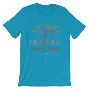 Liberian Queen Short-Sleeve Unisex T-Shirt - Zabba Designs African Clothing Store