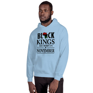 Black Kings Are Born In November Hoodie - Zabba Designs African Clothing Store