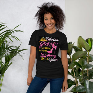 Pink Liberian Girl Short-Sleeve Unisex T-Shirt - Zabba Designs African Clothing Store