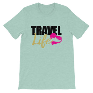 Travel Life Short-Sleeve Ladies T-Shirt - Zabba Designs African Clothing Store
