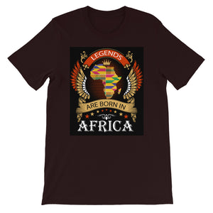 Legends Are Born In Africa Short-Sleeve Unisex T-Shirt - Zabba Designs African Clothing Store