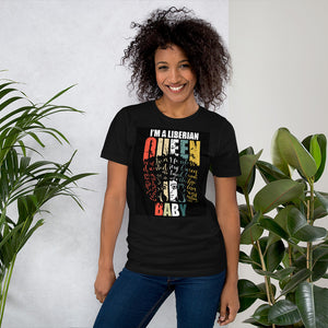 Liberian Queen Baby Short-Sleeve Unisex T-Shirt - Zabba Designs African Clothing Store