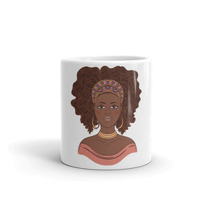 Jazzy Afro Girl Mug - Zabba Designs African Clothing Store