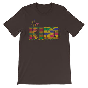 Her King Kente Black T-Shirt - Zabba Designs African Clothing Store