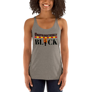 Unapologetically Black African Women's Racerback Tank - Zabba Designs African Clothing Store