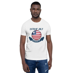 July 26th Of Liberia Short-Sleeve Unisex T-Shirt - Zabba Designs African Clothing Store