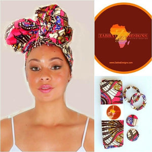 Obasi African HeadWrap - Zabba Designs African Clothing Store