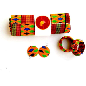 Fula Kente Head Wrap Gift Set - Zabba Designs African Clothing Store