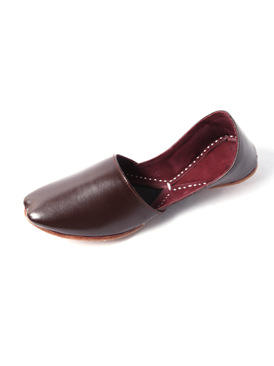 brown leather handmade khusa for men