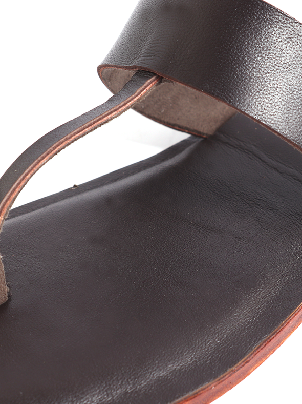 brown pure leather handmade kolapuri