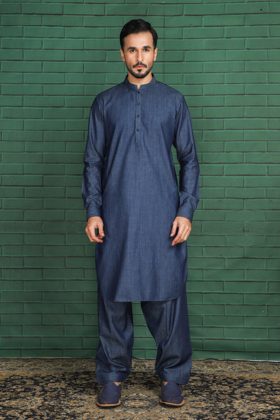 denim kurta shalwar for men