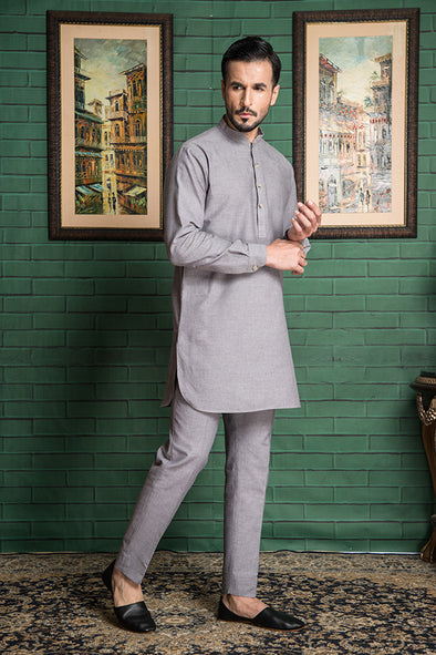 light grey kurta trouser men