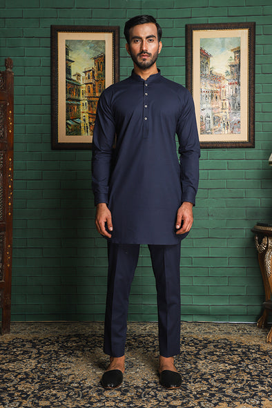 blue trouser kurta for men
