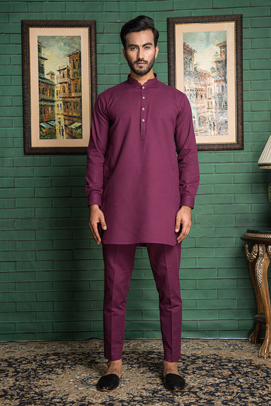 mauve trouser kurta for men