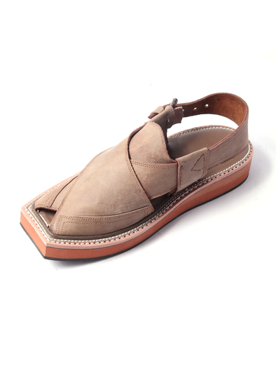 pure leather brown handmade shoe