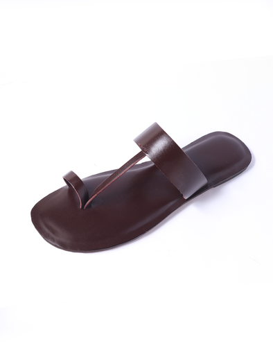 dark brown pure leather handmade kolapuri