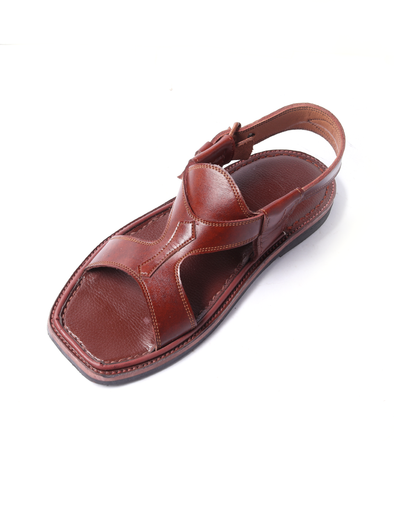 brown pure leather kohati handmade shoe for men
