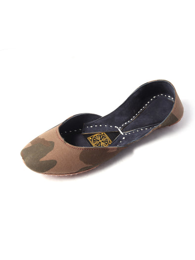 camouflage handmade khusa for girls