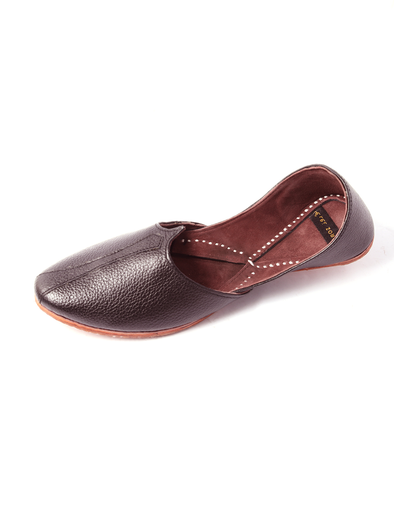 handmade brown pure leather shoe