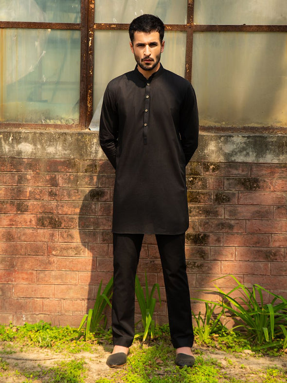 black men's kurta trouser