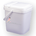 Wax Storage Pail with Hinged Lid