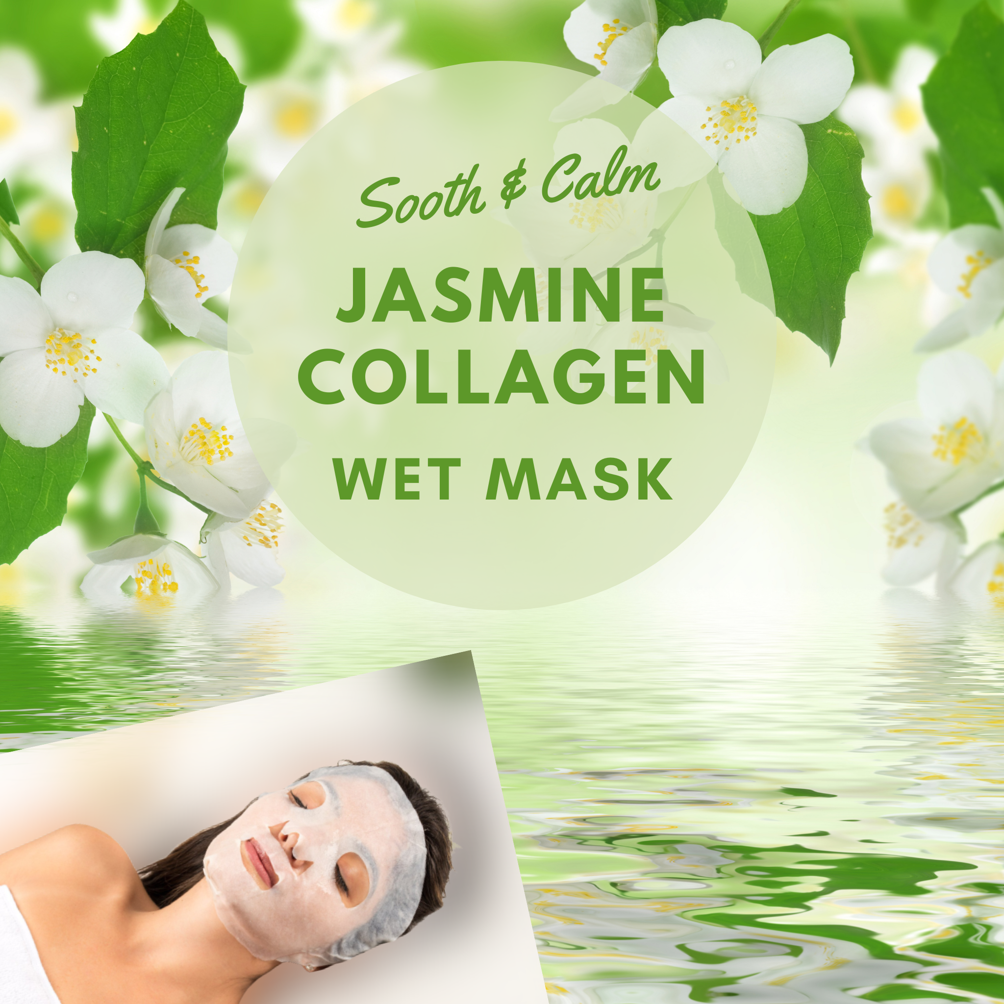 Facial Masks for Sale | Jasmine Collagen Wet Mask
