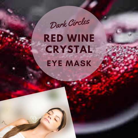 Eye Masks for Sale | Red Wine Crystal Eye Mask (5pairs)