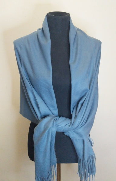 Cashmere Shawl, Scarf, Throw in Large size, Soft, Warm, High quality, Day/Evening shawl in different Colors.