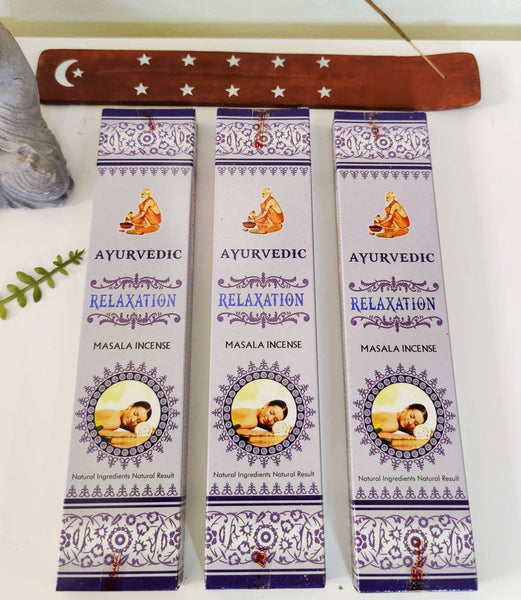 Relaxation Incense Sticks. 3 Pack with Incense Stick Holder for Self Care, Meditation & Yoga.
