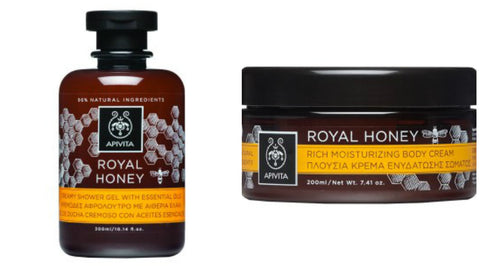 Royal Honey Shower Gel and Body Cream Duo