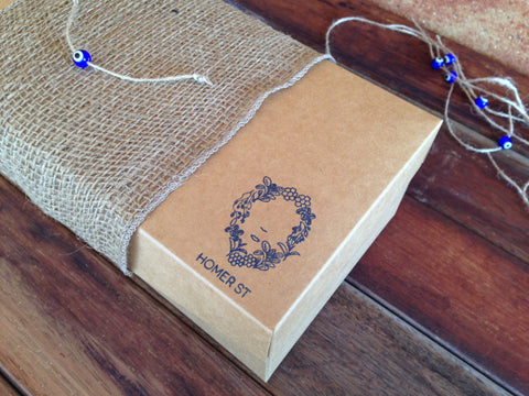 The Aegean - Organic Tea and Evil Eye Coasters