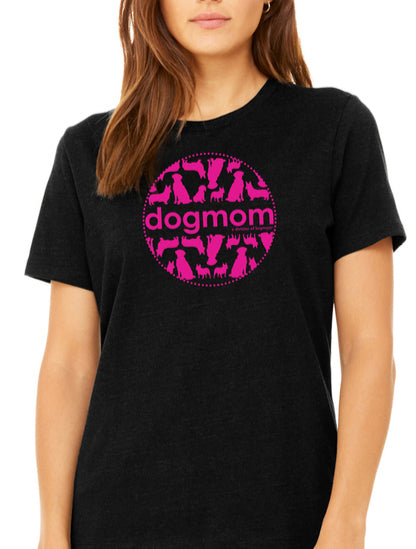 Dog Mom Shirt with Pink Logo