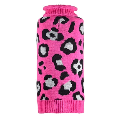 Pink Cheetah Dog Sweater