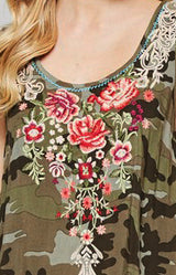 Camo Embroidered Dress