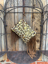 Leopard French Wristlet/Clutch